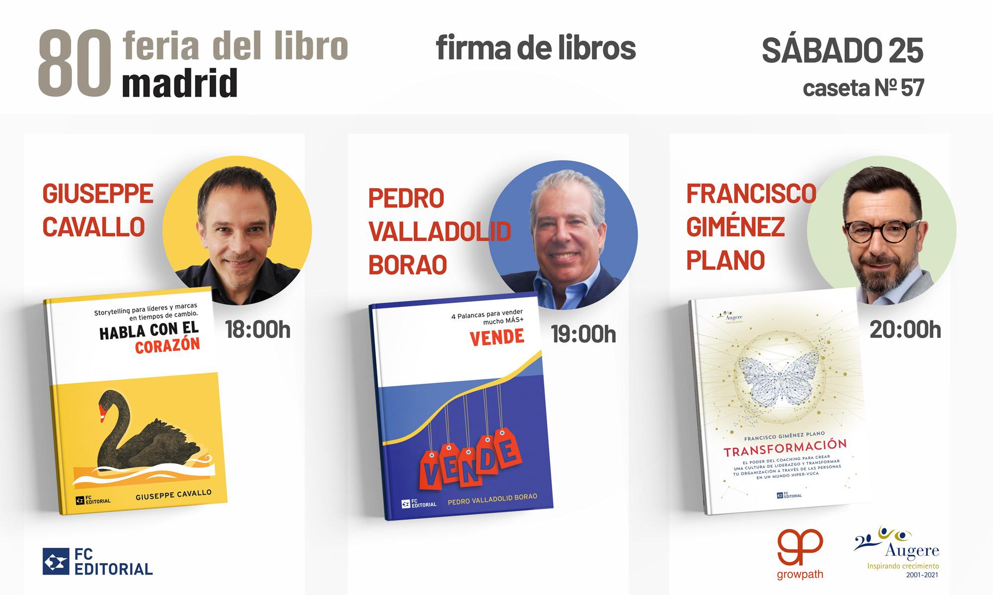 Firma de libros, 80ª Feria de Libros de Madrid